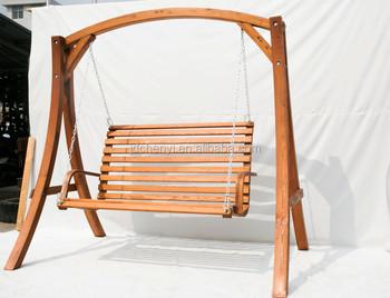 Good Quality Outdoor Wooden Bench Swing Chair Hammock Garden