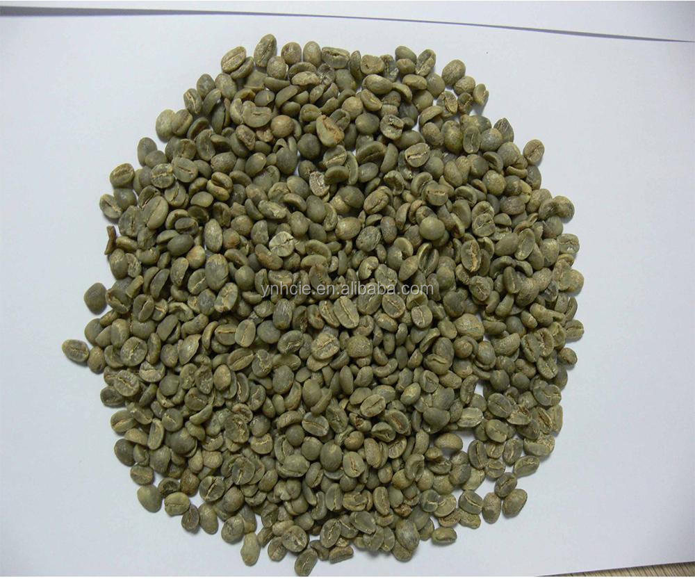 Unroasted Coffee Beans >> Chinese Yunnan Green Coffee Beans Mesh 14 Up Arabica Type Unroasted Coffee Beans Buy Coffee Beans Green Coffee Beans Unroasted Coffee Beans Product