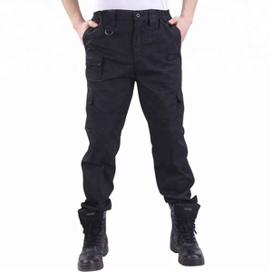 Comfortable tc and cotton twill pants mens cargo pants with side pockets