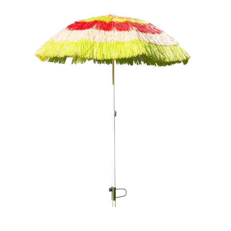 Outsunny Outdoor Straw Beach Patio Umbrella Parts Stand Mixed Color Umbrella  Promotional