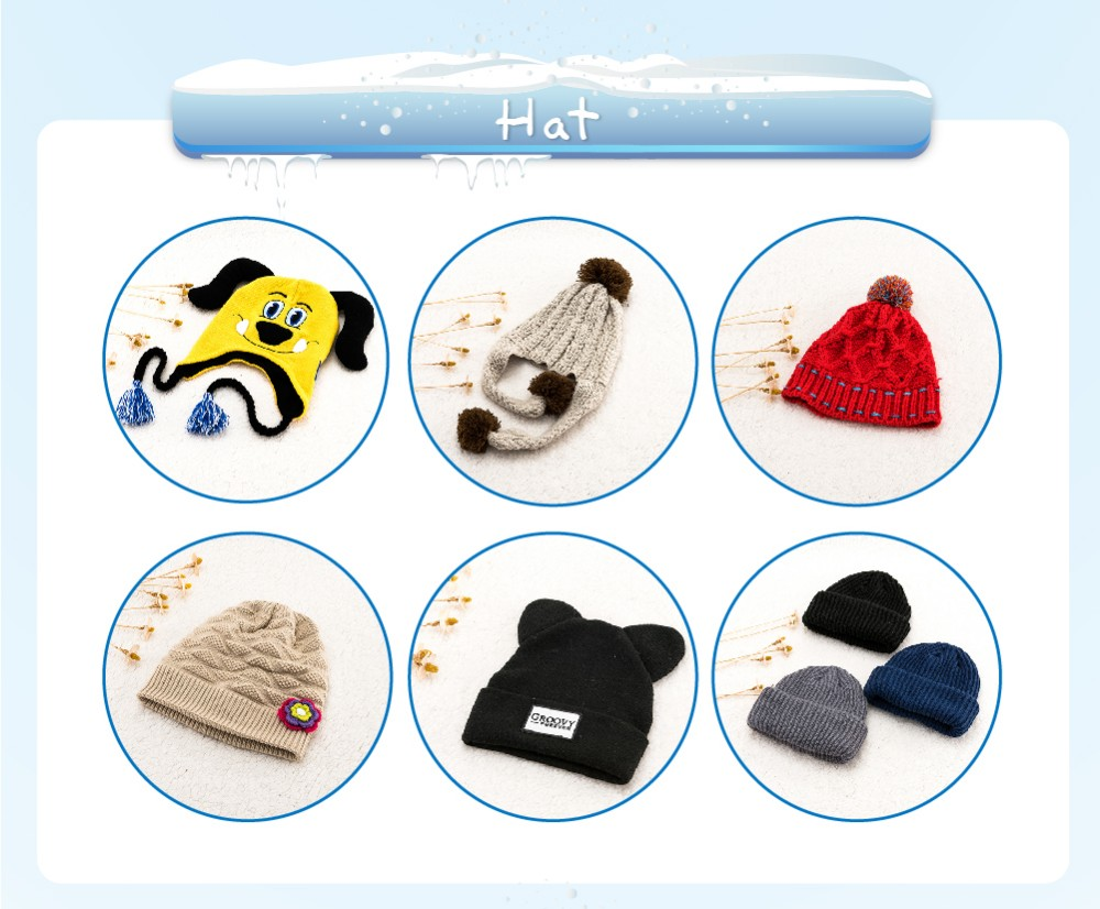New knit child winter fashionable acrylic hat