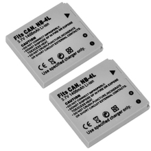 2pcs/lot New Digital Camera Battery 1400mah 3.7 V NB-4L NB4L for Canon Digital IXUS 100 110 30 IS IXY 10 SD300