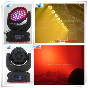 LED lighting for discotheques zoom moving head 36 x 18 w led moving head wash light