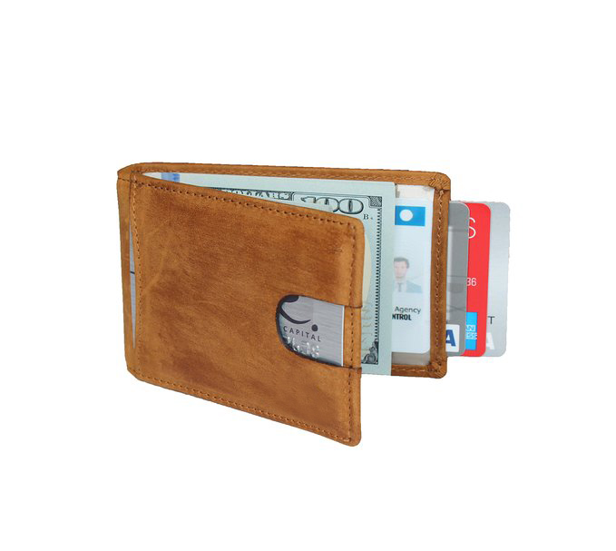 Wholesale Genuine Leather Wallet Slim Front Pocket Wallet Rfid Secure Blocking Technology Credit Card Holder Money Clip