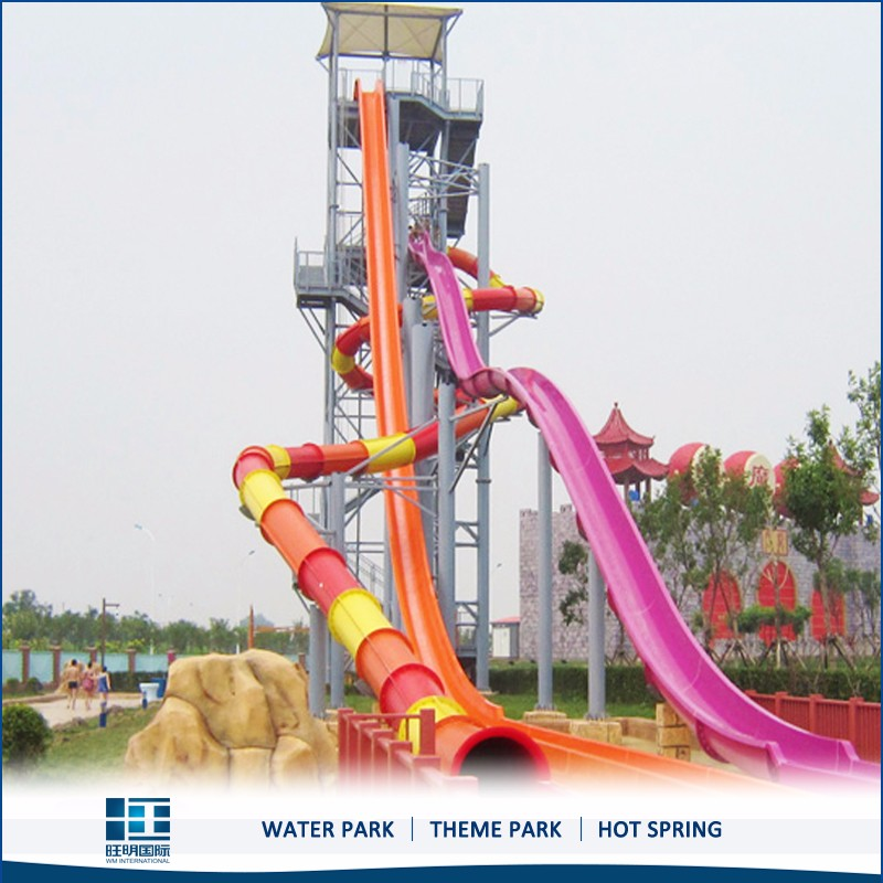 Cheap water slide high speed tube slide Water play equipment
