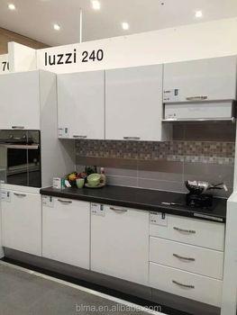 Fsc Moderen Laminasi Melamin Model Kabinet Dapur Dengan Gloss Selesai Lemari Pintu