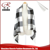 Factory plain warm and comfortable best selling wrap shawl lady scarf