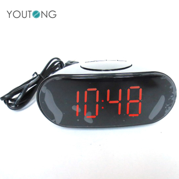 Custom Cheap Cool Radio Controlled Small Desktop Electric Digital LED Alarm Clock , Desk Alarm Clock LED