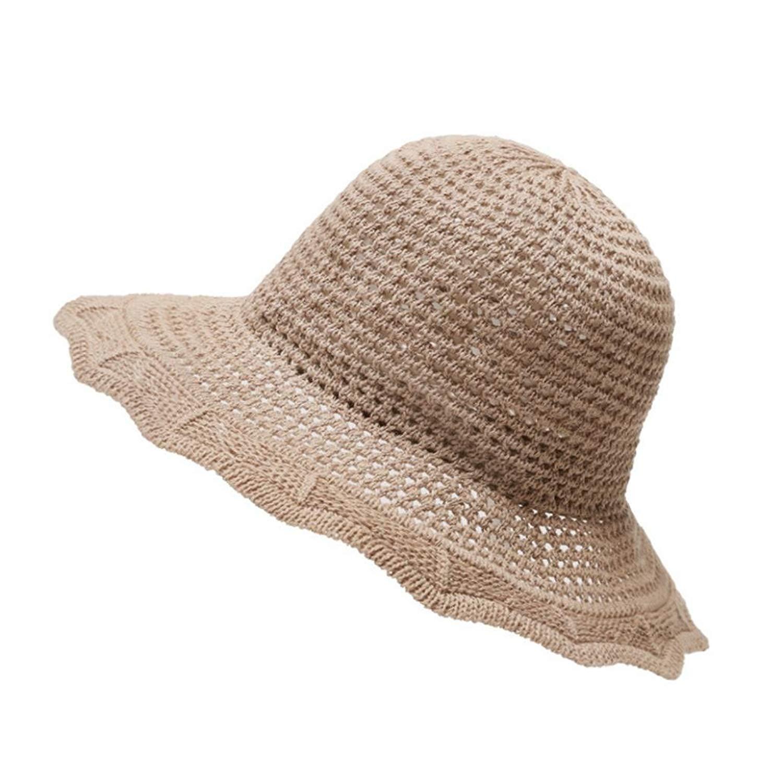 Gaweb Foldable Summer Women Cotton Linen Sunhat Wide Brim Beach Outdoor  Bucket Hat 6d28b2ec43e2