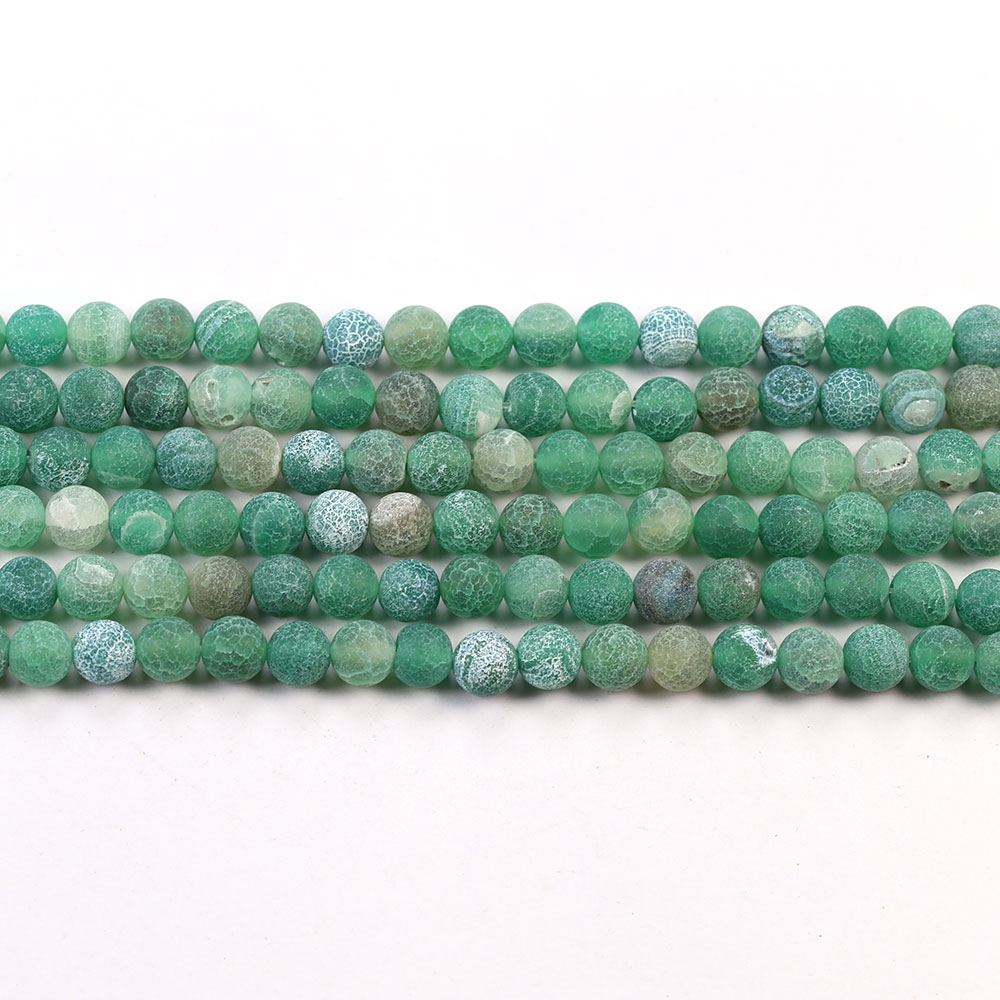 Wholesale Green Frost Agate Stone Natural Loose Gemstone Beads For Personalized Jewelry Making
