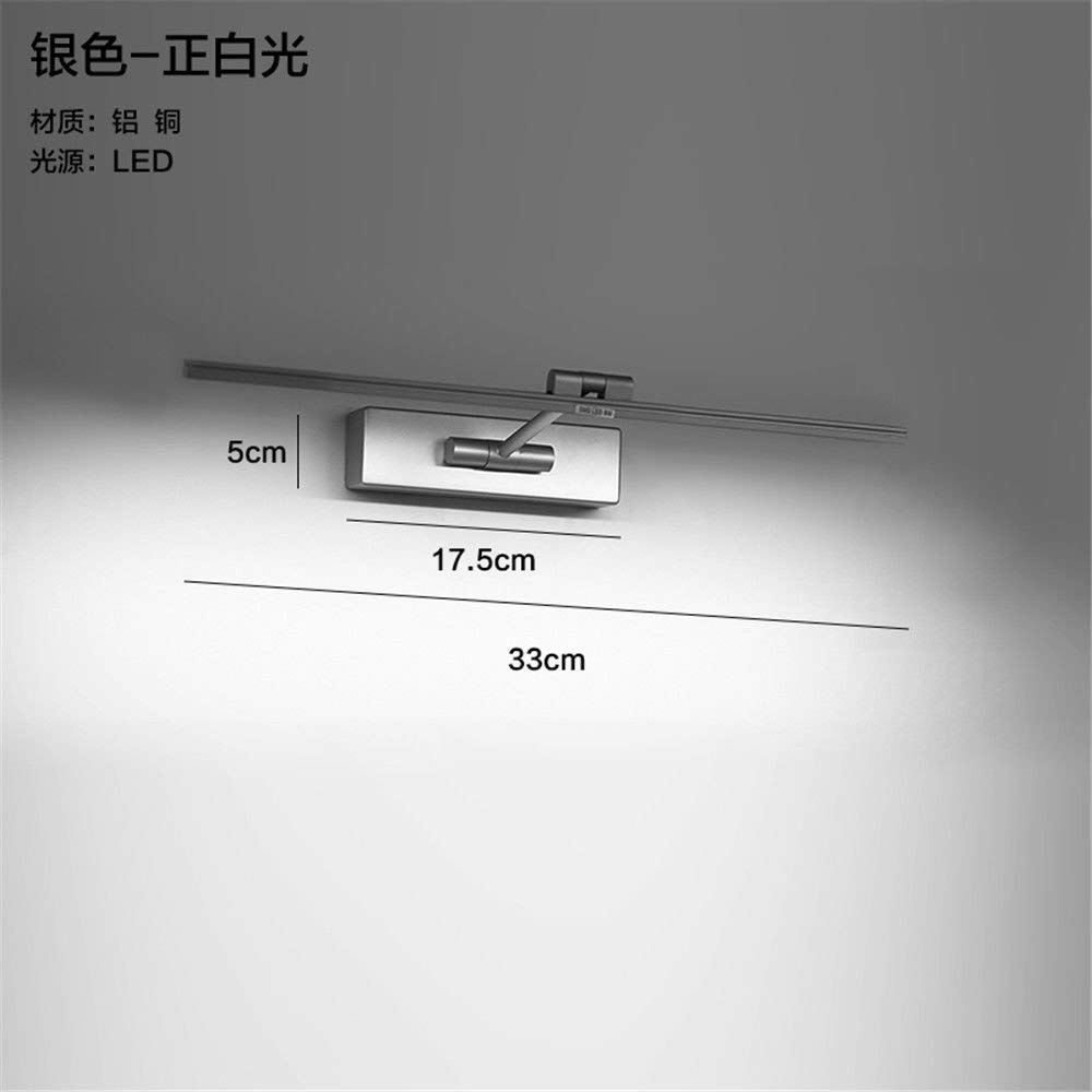 CGHYY Led Wall Mounted Bathroom Mirror Front Light Mirror Cabinet Bathroom Led Wall Lamp Waterproof Anti-Fog Bathroom Mirror Lights Led Wall Lights Antique Fixture