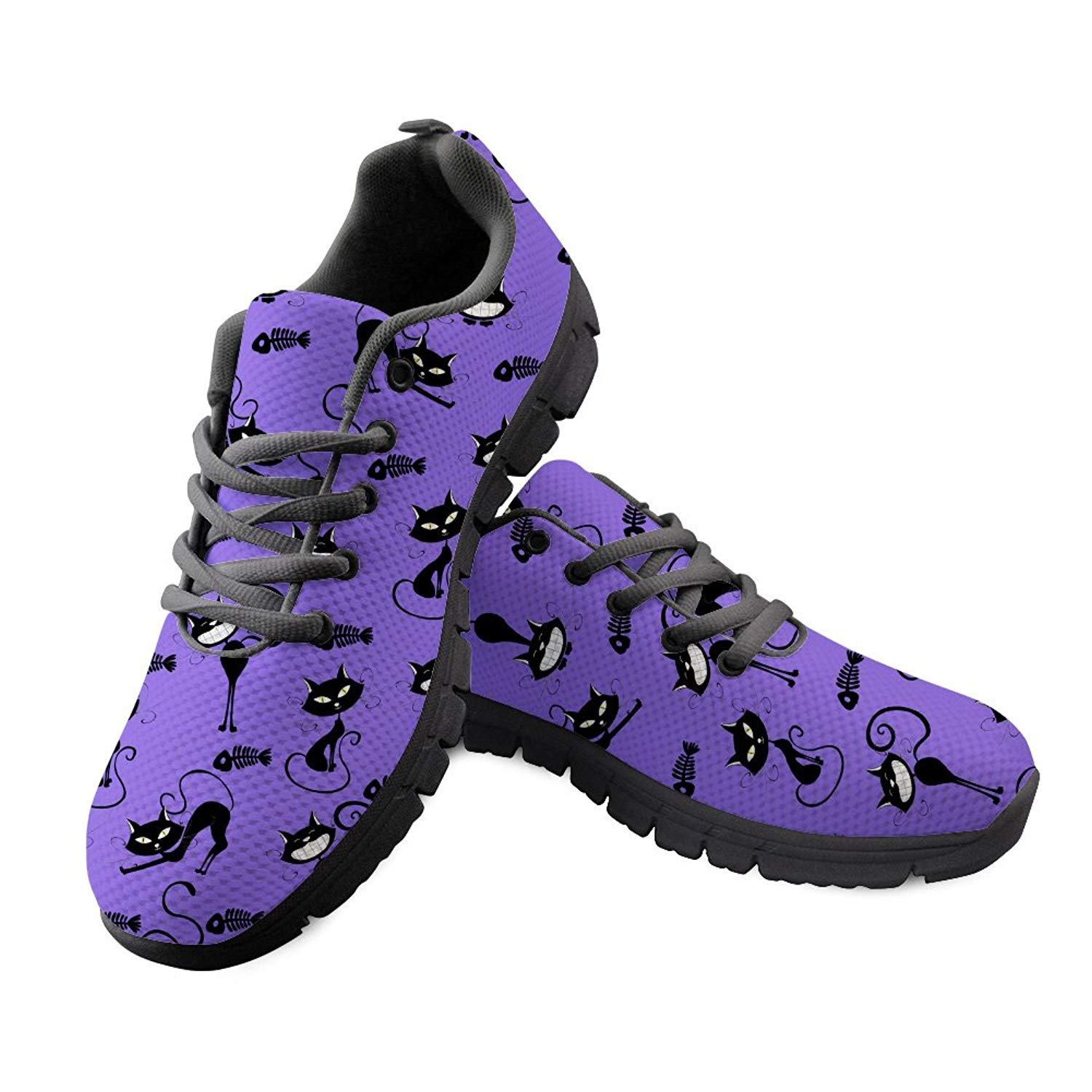 3e33f35fec Get Quotations · DeePrint Custom Design Lace up Female Sneakers Shoes Flat  Casual Shoes