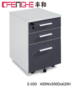 Office Furniture Set 3 Drawers Movable Wooden Filing Cabinet
