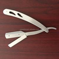 Custom LOGO Stainless Steel Barber Straight Edge Razor Shaving Blade