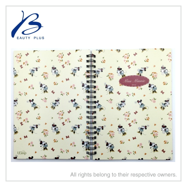 Cartoon designs notebooks with custom printing, coil hardcover notebook, A5 custom O-wire notebook