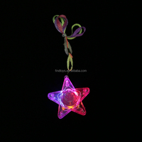 Novelty led and light up star shaped necklace blinking necklace carnival supplies