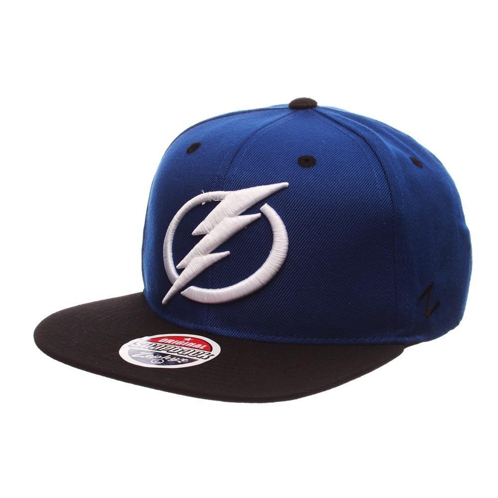 NHL-Tampa Bay Lightning Circle Bolt Flat Bill Hat - Adjustable
