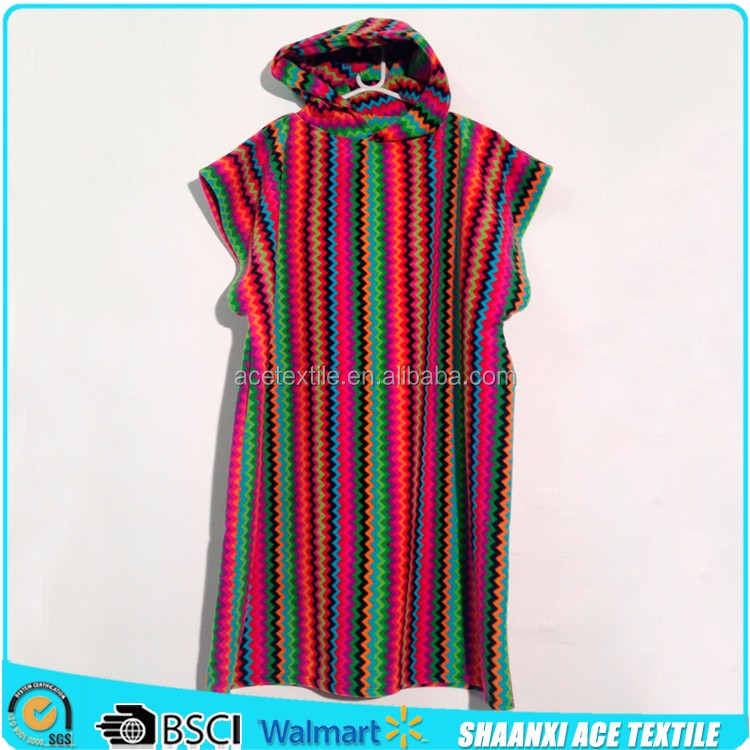 100% Cotton Yarn- Dyed Colorful Stripes Multi Colors Adult Surf Poncho  Hooded Towel - Buy Surf Poncho Hooded Towel,Colorful Stripes Surf  Poncho,Multi