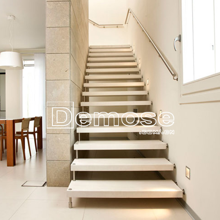 Modern Floating Solid Wood Stairs