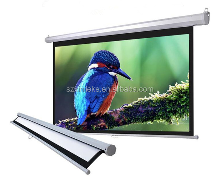 Home Cinema Projection Screen Matt White Fabric Screen Wall Mounted Projector Screen Sale