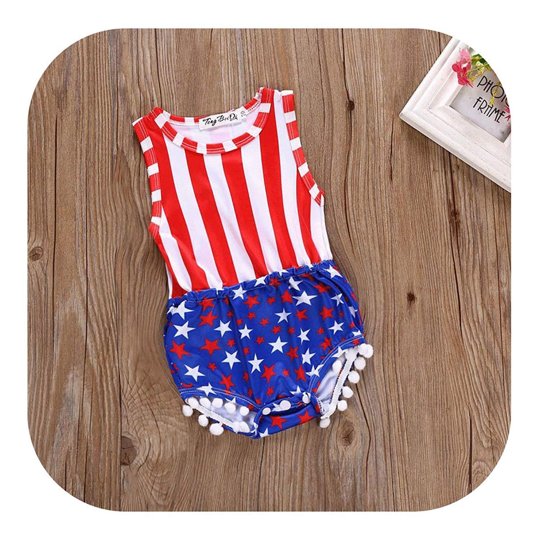 7f75322c9e7 Molyveva 4th of July Toddler Baby Girl American Flag Tassel Romper USA  Jumpsuit