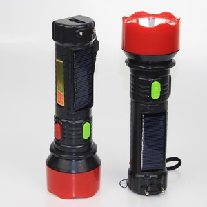 multifunctional dual use powered by 3pc AA dry battery AC110v/250v solar torch rechargeable