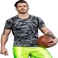 New Arrival Seamless Men Gym Shirt, Custom Sport t shirt printing , Wholesale Fitness Clothing