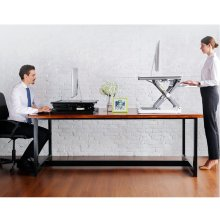 Black Office Standing Computer Desk Top Desk Riser