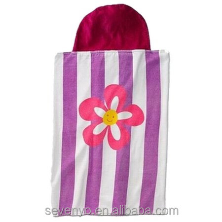 100% soft cotton terry and soft beautiful flower baby bath towel kids hooded towel