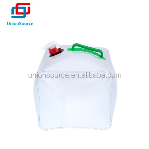 20L PVC Outdoor Foldable Transparent Drinking Water Container