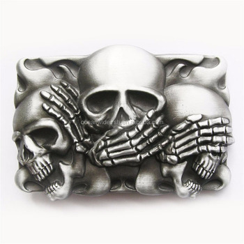 New Jean's Friend Original Vintage Flame Shy Skulls Rectangle Tattoo Belt Buckle Gurtelschnalle Boucle de ceinture