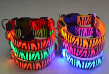 Wholesale price RoHS CE colorful led dog collar for pet supplies