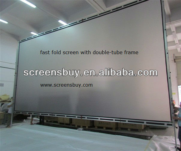travel screen with double-tube frame/Fast portable screen
