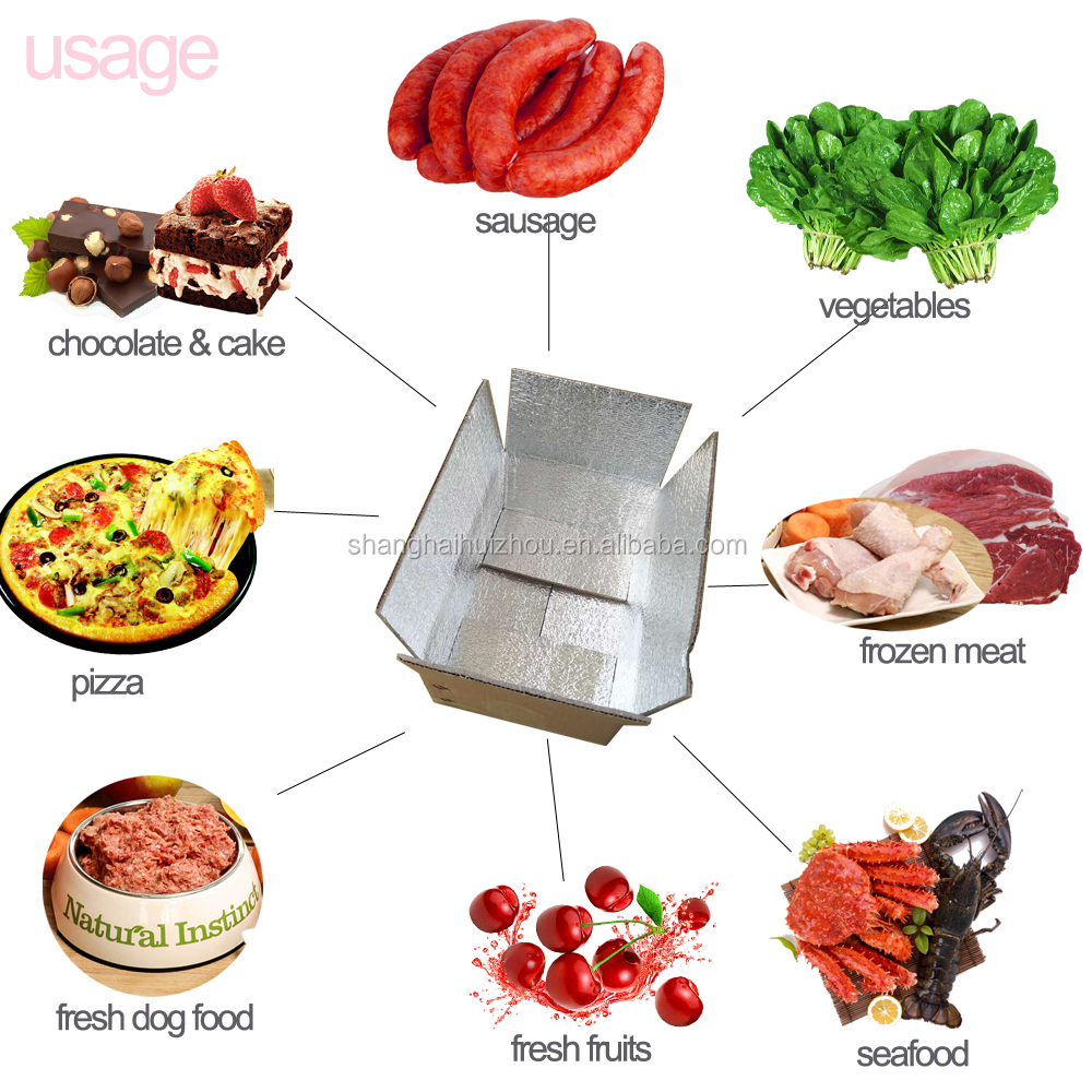 custom packing box frozen meat pizza cold packaging delivery insulation cardboard shipping boxes