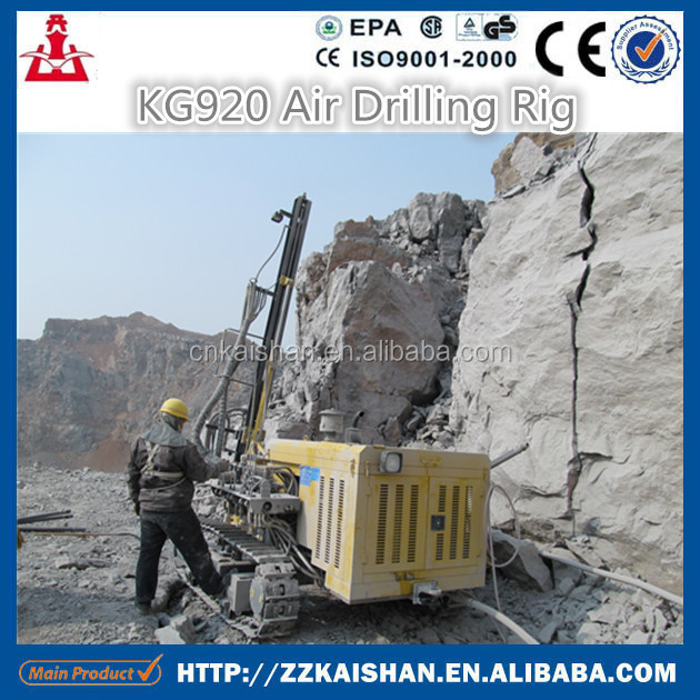 High Efficiency Kaishan Model KG920 Surface DTH Drilling Rig/Air Tracking Drilling Machinery in 2016