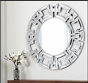 Silver Wall Mirrors Decorative.Buy Abbyson Living Pierre Silver Round Wall Mirror Wall