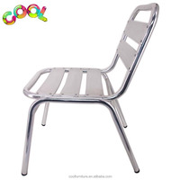 Cheap Lightweight Aluminum Unique Armchair Bistro Chair Aluminium Welded Outdoor Stacking Aluminium Chairs at Home & Garden