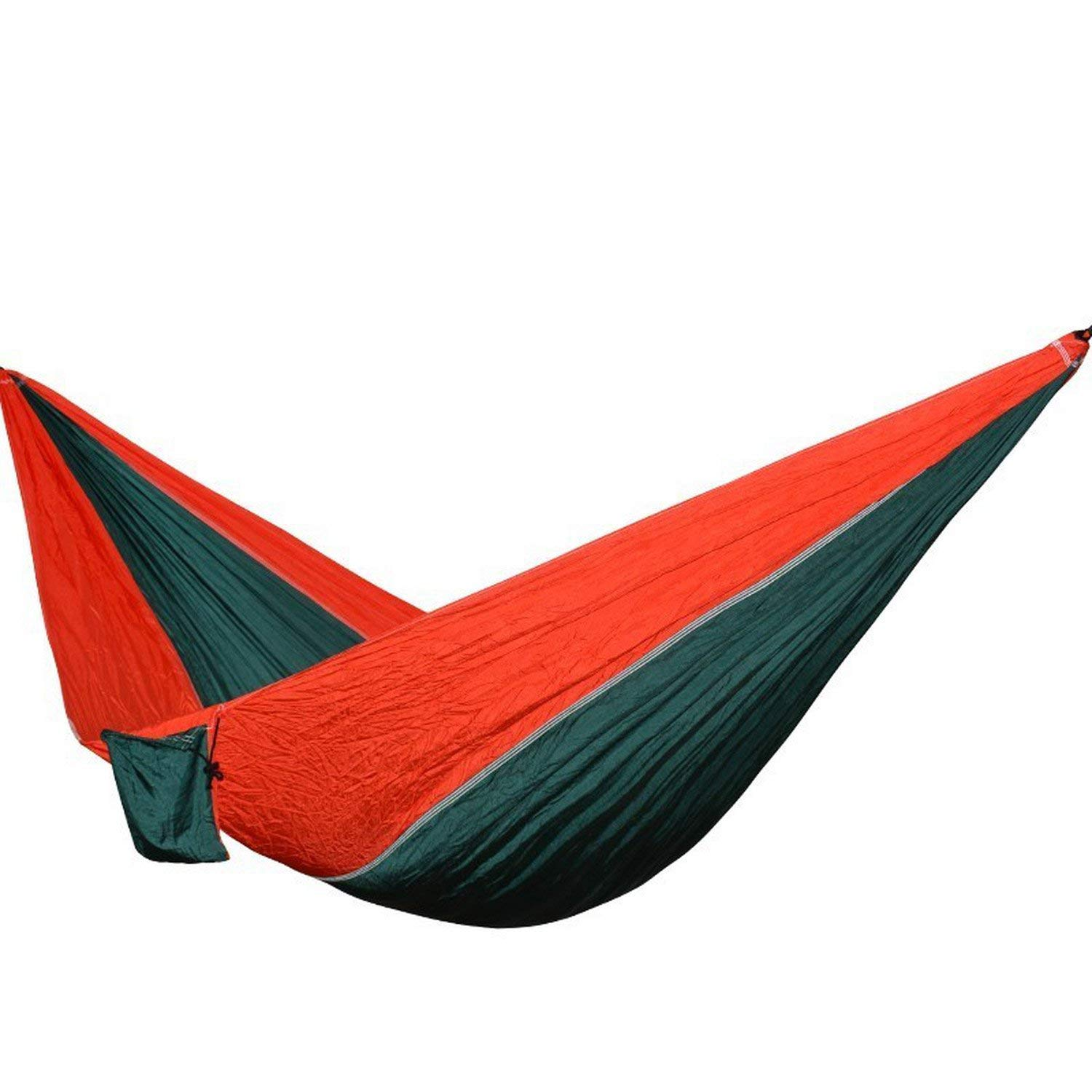 Mandaartins 24 Color 2 People Portable Parachute Hammock Camping Survival Garden Flyknit Hunting Leisure Hamac Travel Double Person Hamak,green red