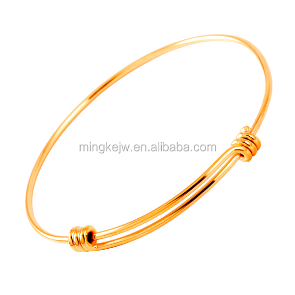 IJB0214 Impress Jewelry Cheap Wholesale 1.5mm&1.8mm Wire adjustable Stainless steel expandable bangle