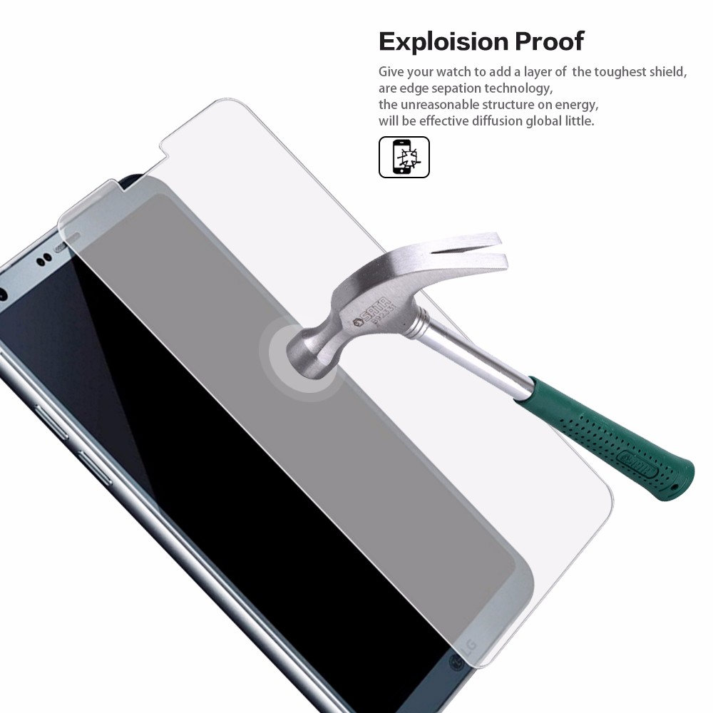 2017 2.5D nano flexible dustproof real glass screen protector for LG G6