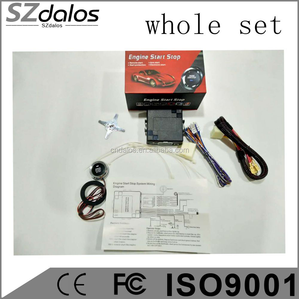SZdalos auto alarm security system smart telefoon stop motor door controleren auto running snelheid gps online tracking