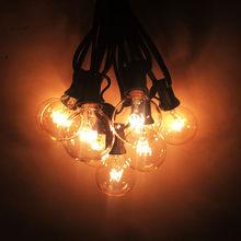 VNL G40 25 прозрачные лампы типа фестон светодиодные гирлянды водонепроницаемые наружные светодиодные прозрачные шаровые гирлянды для вечери...(Китай)
