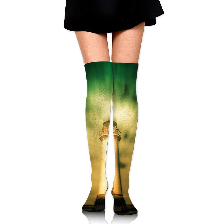 Zaqxsw Lighthouse Women Cool Thigh High Socks Cotton Socks For Ladies