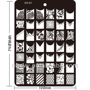 Fashion Style Nail Art Stamp Plate And Konad Stamping Plates Large