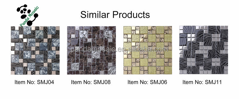 smj09 wave surface stone mosaic hotel wall tiles strip pure black slate mosaic tiles