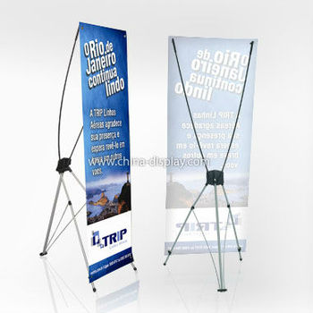 Advertising X Tension Vertical Banner Stand Retractable Stands