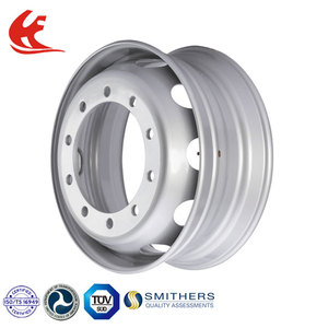 22.5*8.25 semi tubeless steel 10 hole truck wheels