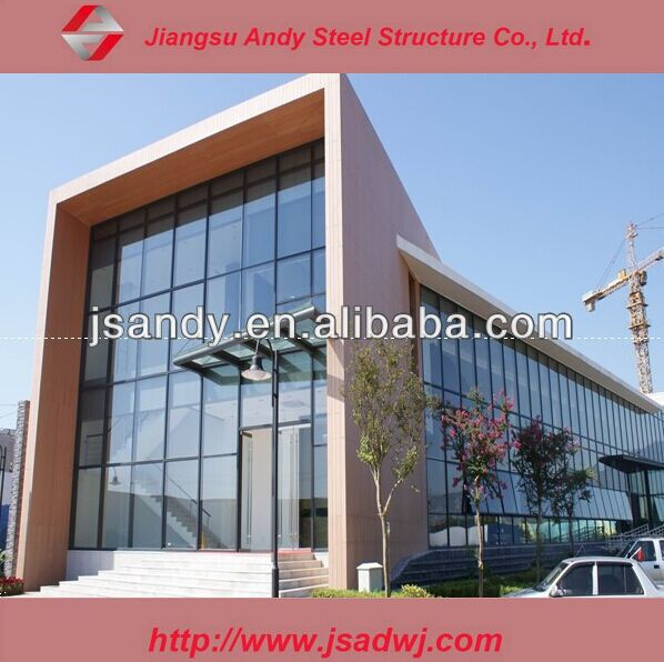 Building Construction Glass Curtain Wall And Space Frame Structure ...