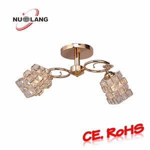 Luxury France Gold Crystal Bead Crystal Chandeliers Made In China