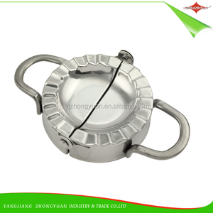 ZY-F1551 Newness Stainless Steel Dumpling Maker and Dough Press for Home Kitchen Stainless Steel Dumpling Pie Mold